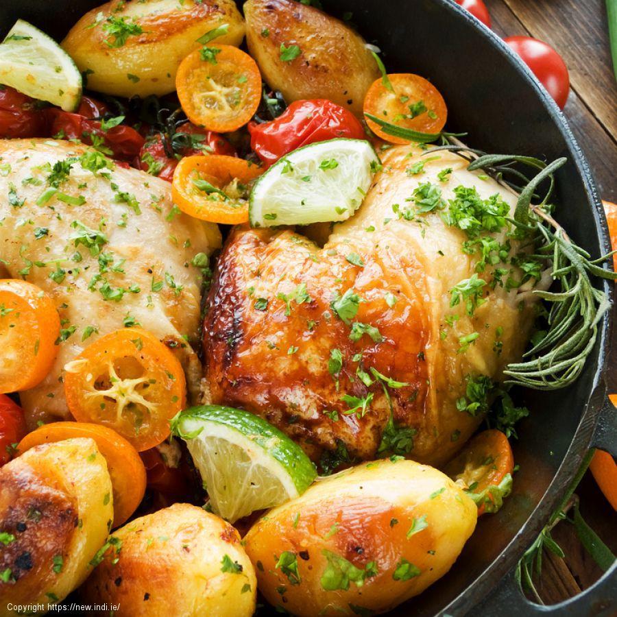 Potato, Leek and Chicken Dish