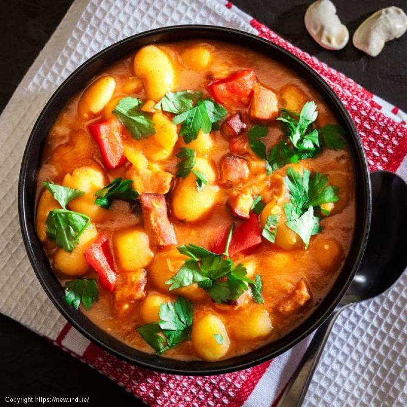 Cannellini Bean Stew with tomatoes