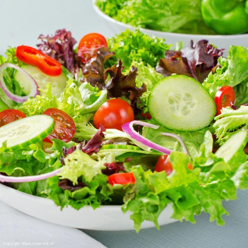 Broccoli, cherry tomato, feta and hazelnut salad with French dressing
