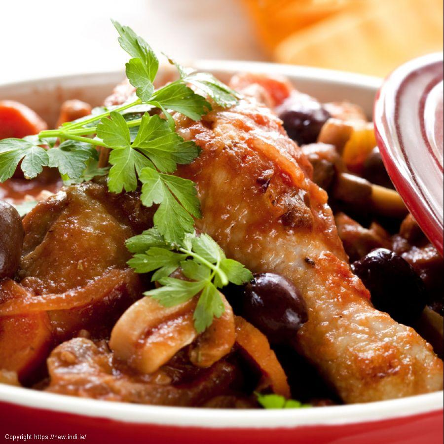 Chicken casserole with tomatoes