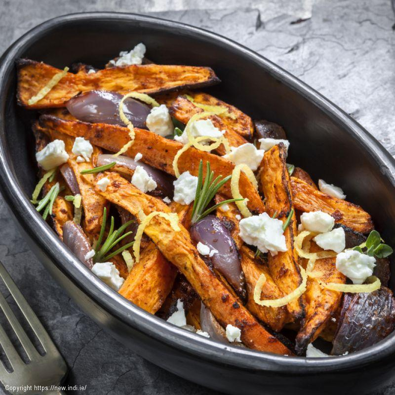 Baked Sweet Potato and Feta